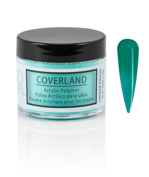 "Coverland Acrylic Powder 1.5 oz ""Teal"" 