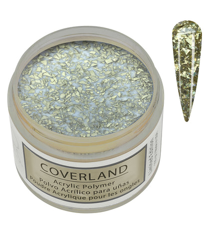 "Coverland Acrylic Powder 1.5 oz ""Crushed Gold"" Limited Edition 