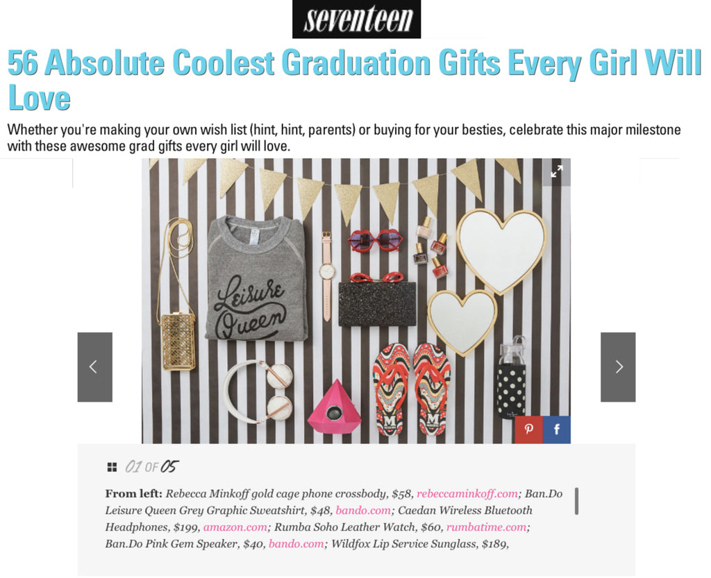 Rumba Time SoHo Leather Blush featured in Seventeen Magazine Article