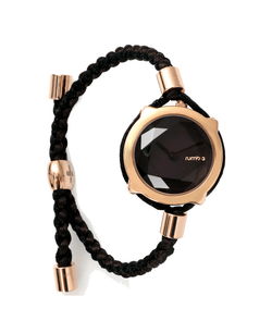 womens braided black watch