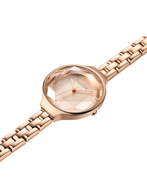 rumba rose gold watch