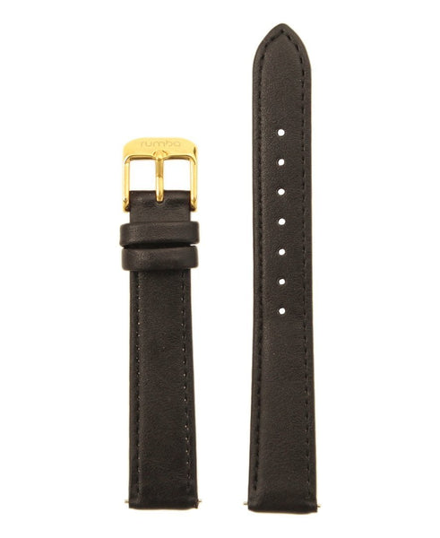 womens black leather watch strap