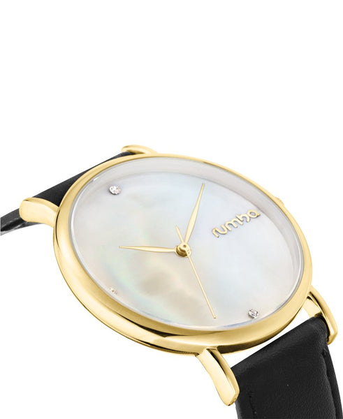 yellow gold ladies watch