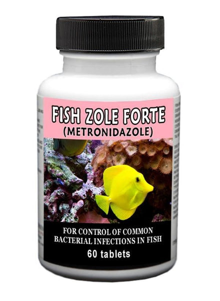 Fish zole forte metronidazole 500mg 60 count for Metronidazole for fish