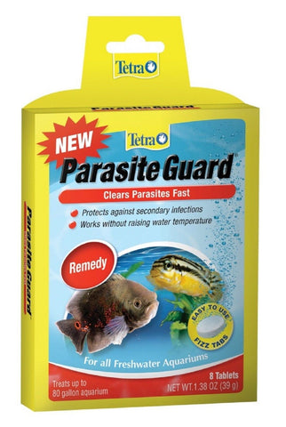 Parasite Guard 8 Tablets Freshwater Fish Worms/Flukes Medication Tabs Tetra