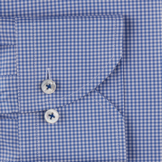 Stenströms Blue Checked Woven Shirt