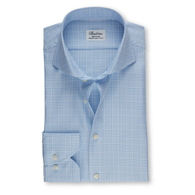 Stenströms Light Blue Glen Checked Woven Shirt