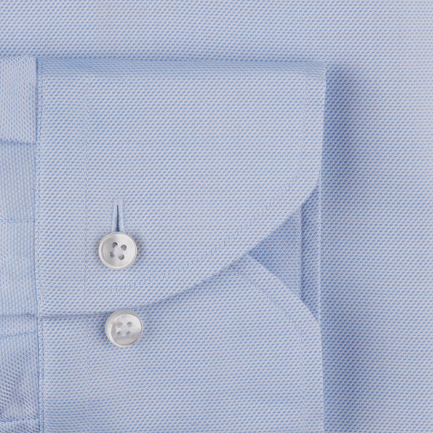Stenströms Light Blue Textured Woven Shirt