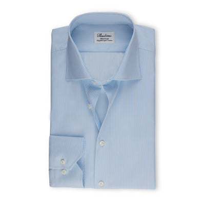 Stenströms Light Blue Pinstriped Woven Shirt
