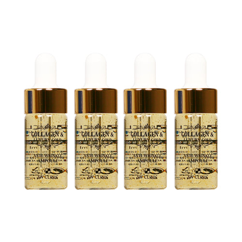 3W CLINIC Collagen and Luxury Gold Anti-Wrinkle Ampoule (4 pack)
