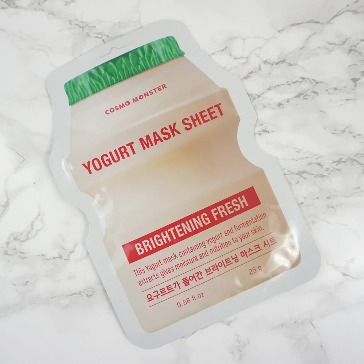 COSMO MONSTER Yogurt Mask Sheet - Brightening Fresh
