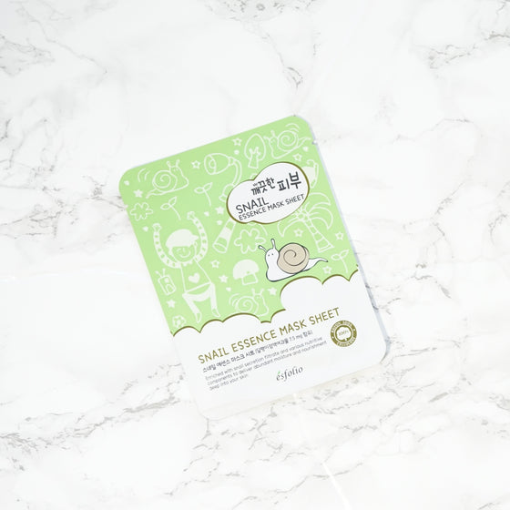 Esfolio PURE SKIN Essence Sheet Mask - Snail