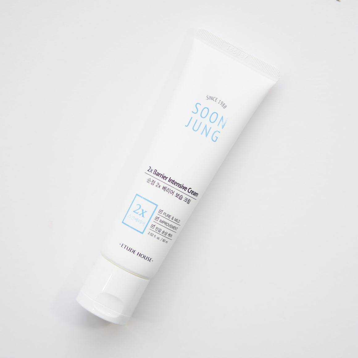 ETUDE HOUSE SoonJung 2x Barrier Intensive Cream (60 ml) [EXP 09.13.2021]