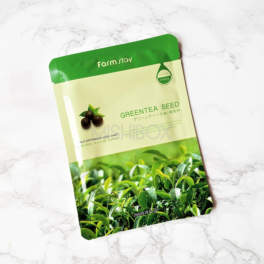 FARMSTAY Visible Difference Mask Sheet - Green Tea
