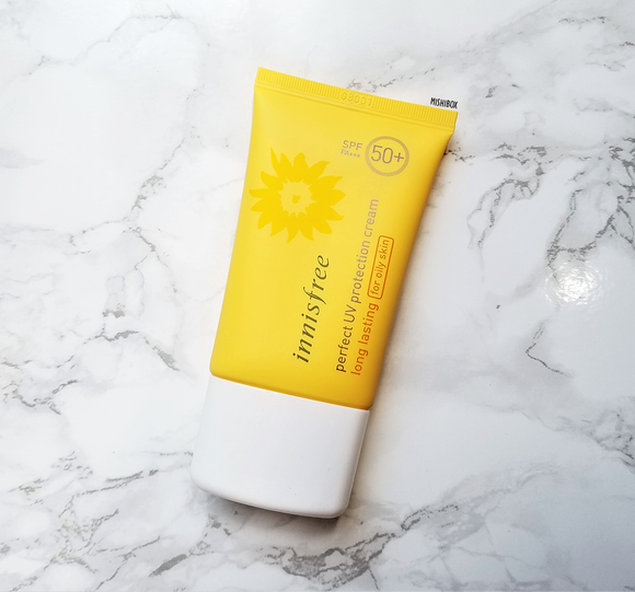 Innisfree Perfect UV Protection Cream Long Lasting SPF50+ PA+++ (For Oily Skin)