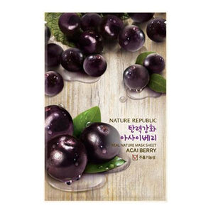 Nature Republic Real Nature Mask Sheet - Acai Berry