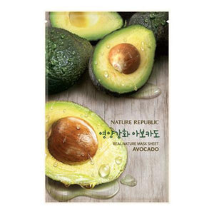 Nature Republic Real Nature Mask Sheet - Avocado