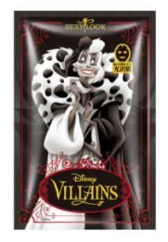 SEXYLOOK Disney Villains: CRUELLA DE VIL - Firming Anti-Wrinkle Black Mask