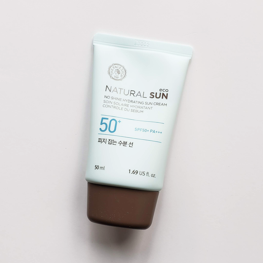 THEFACESHOP Natural Sun Eco No Shine Hydrating Sun Cream SPF50+ PA+++