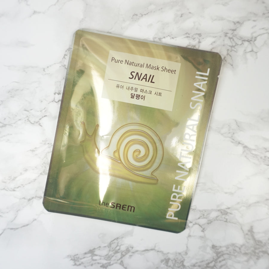 the SAEM Pure Natural Snail Mask Sheet