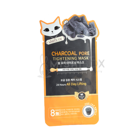 WHITE CAT Charcoal Pore Tightening Mask - MISHIBOX