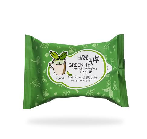Esfolio Green Tea Facial Cleansing Tissue (20 sheets)