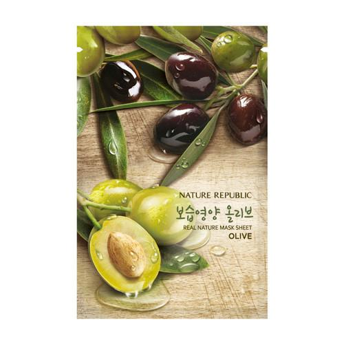 Nature Republic Real Nature Mask Sheet - Olive