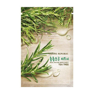 Nature Republic Real Nature Mask Sheet - Tea Tree