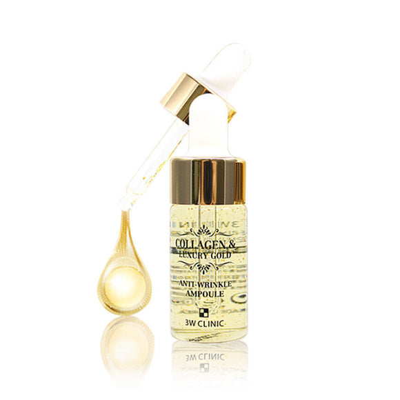 3W CLINIC Collagen and Luxury Gold Anti-Wrinkle Ampoule