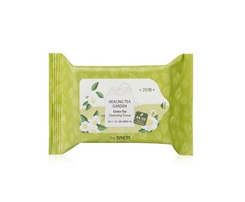 the SAEM Healing Tea Garden Green Tea Cleansing Tissue (20 sheets)