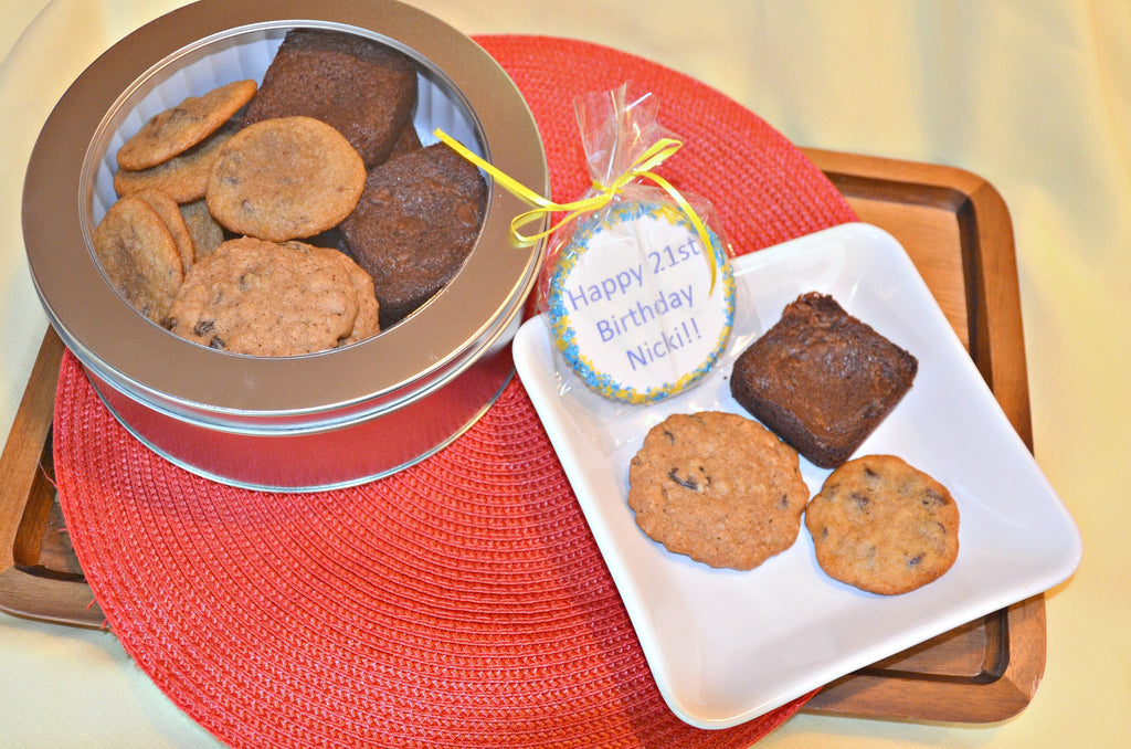 Brownie & Cookie Sampler with Custom Note Cookie - Crumbolicious