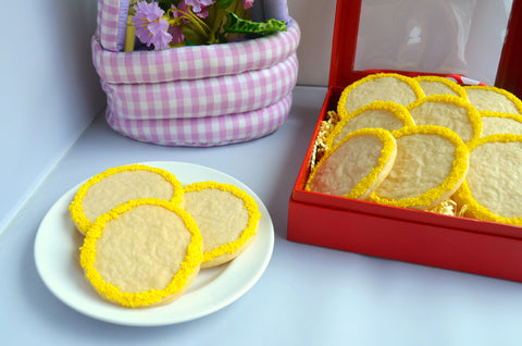Easter Lemon Shortbread Cookies