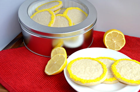 Lemon Shortbread Cookie Tin