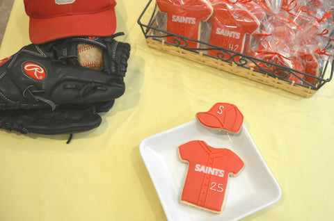 Baseball Jersey & Hat Shortbread Custom Cookies