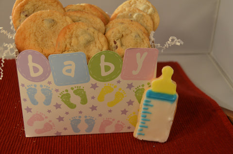 New Baby Gift - Assorted Cookie Box