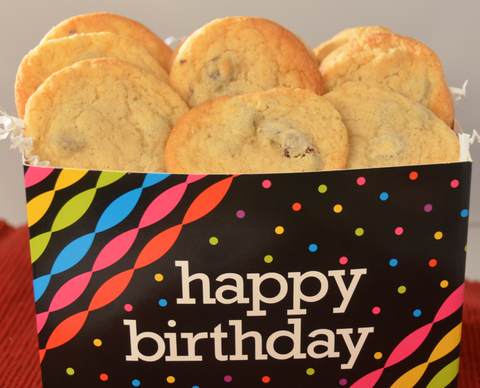 Happy Birthday Chocolate Chip Cookie Box