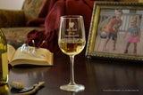 grandparent wine glass with wine