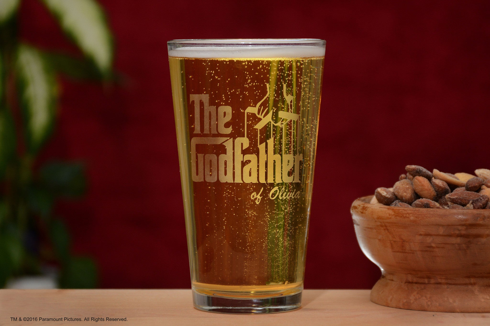 Personalized The Godfather Movie Beer Pint Glass
