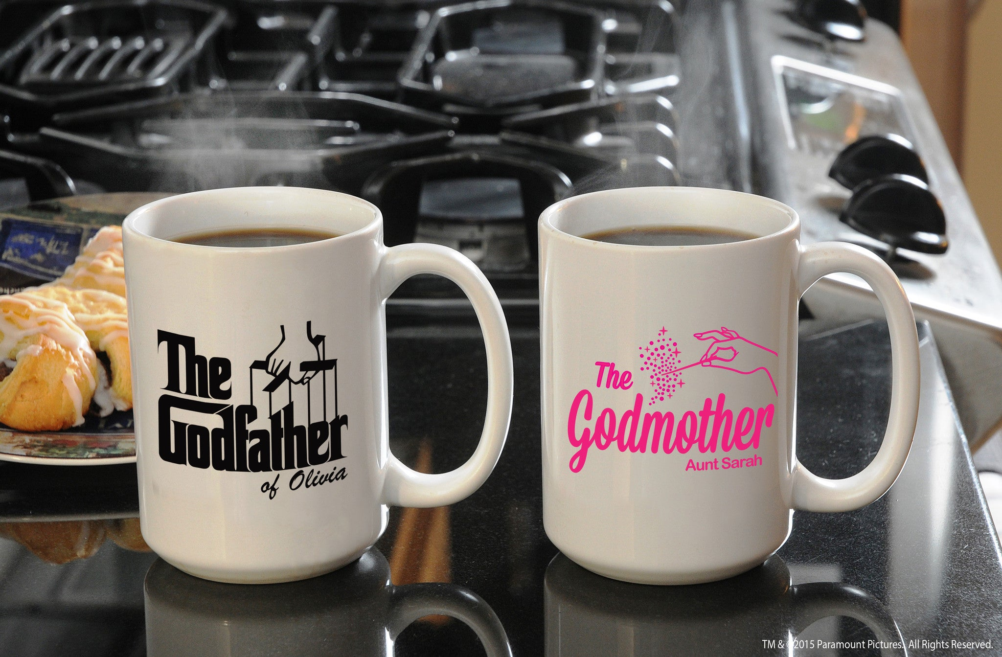 the godfather godmother large coffee mug set