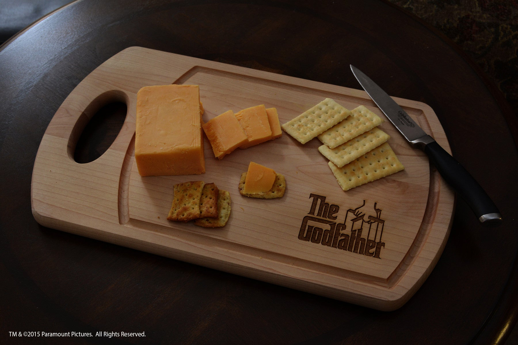 The godfather cutting board cheese server for movie lovers
