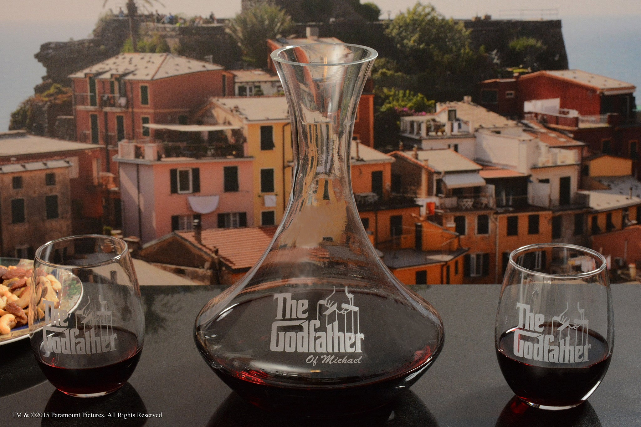 The Godfather Movie Decanter & Stemless Wine Glasses Set
