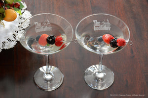Personalized The Godfather / Godmother Martini Glass Set