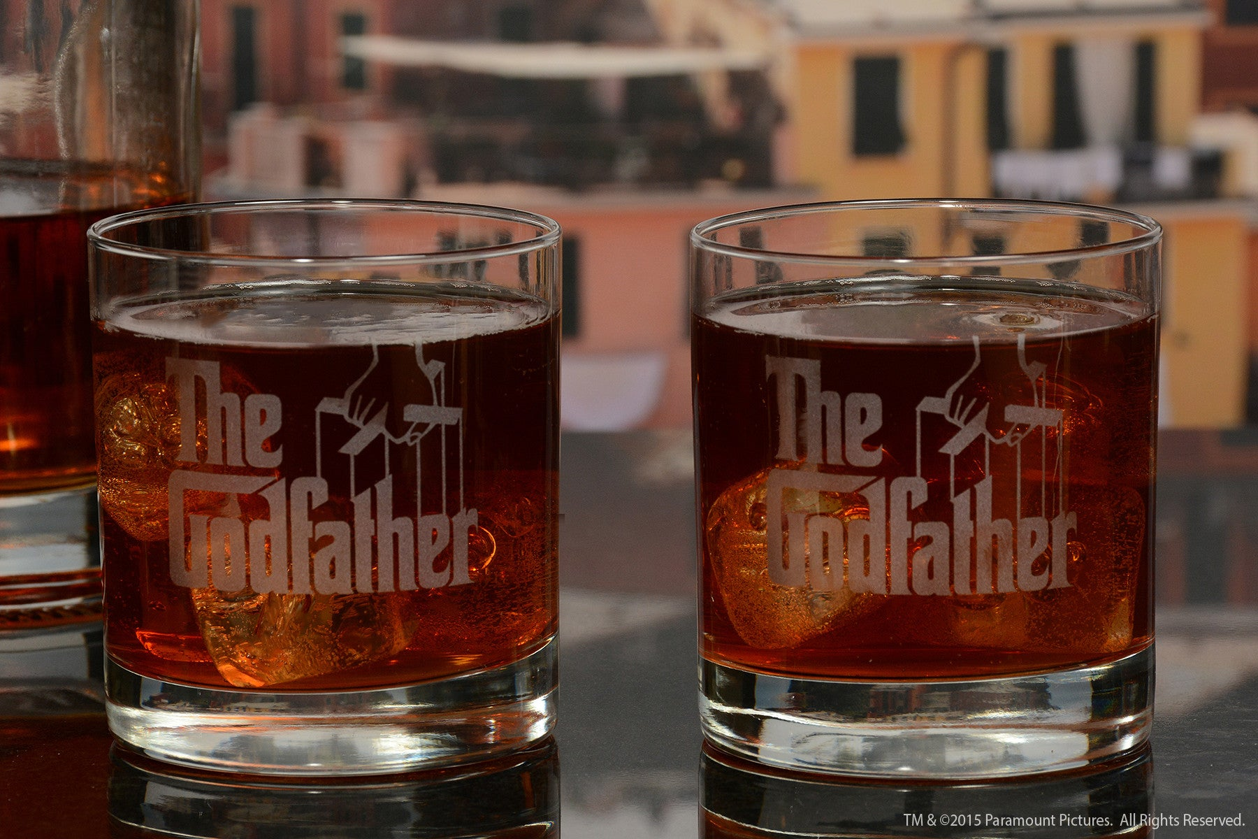 The Godfather Movie Whiskey Glasses 2pc Set