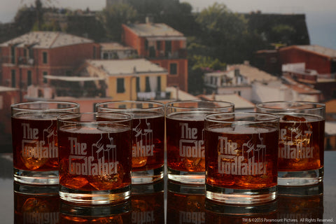 The Godfather Movie Whiskey Glasses with Quotes 6pc Set