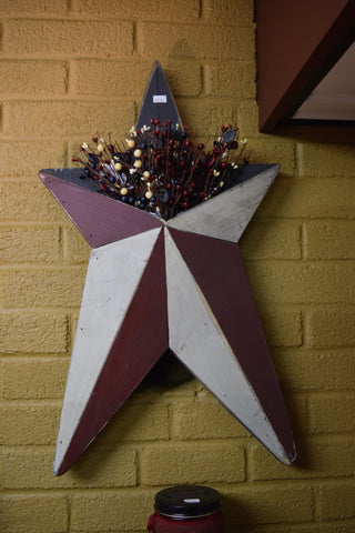 Large Wooden Star Pocketed Wall Hanging