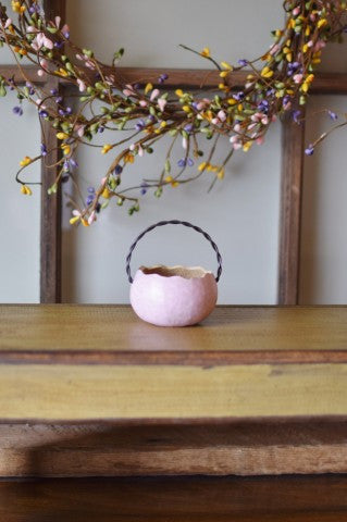 Pastel Easter Basket - Small Pink