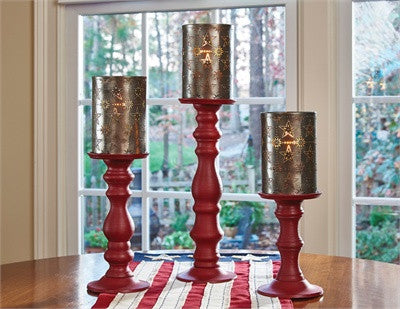 Park Designs Candlestick Lamp - Red
