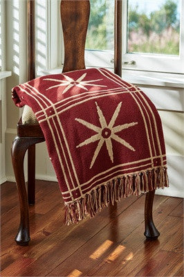 Windsor Star Throw Garnet