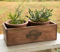 Elkhorn Herbs Planter W/ Two Pots