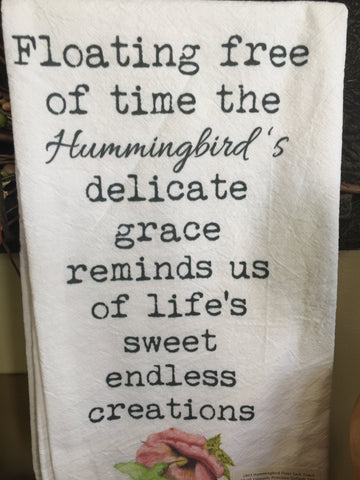 1803 Hummingbird Flour Sack Towel